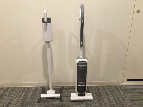 プラスマイナスゼロコードレスクリーナーと旧掃除機を比較