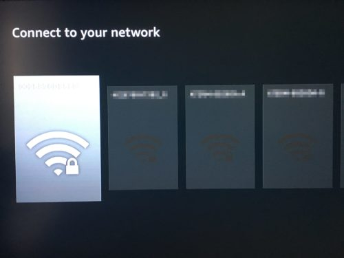 Wi-Fiネットワークの接続先の選択画面