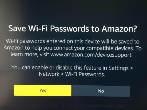 Wi-Fiのパスワードを保存する画面